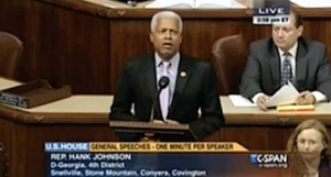 "Rep. Hank Johnson recites ""I can't breathe"" on the House Floor on December 4, 2014"
