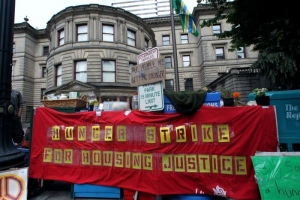 Homelessness policies are changing just north of Portland, OR, where hunger strikers camped out to protest similar rules in 2012.