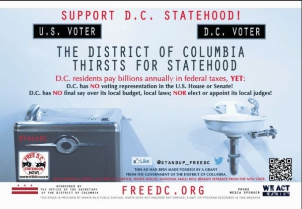 First Subway Ads for D.C. Statehood Now Appear in Five Metrorail Stations