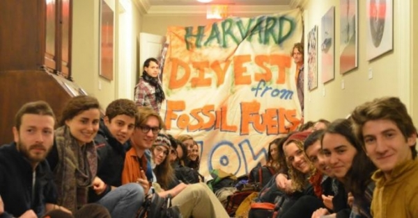 """Our goal of disrupting business as usual this morning was absolutely met,"" read a statement on Tuesday from Divest Harvard students."
