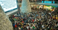 At the #BlackLivesMatter protest at the Mall of America on December 20, 2014.
